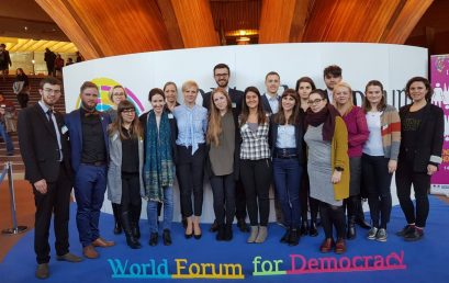 Participants of the VSPS Migration Program at the World Forum of Democracy
