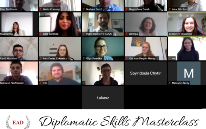 Diplomatic Skills Masterclass (virtual classroom) has kicked off!