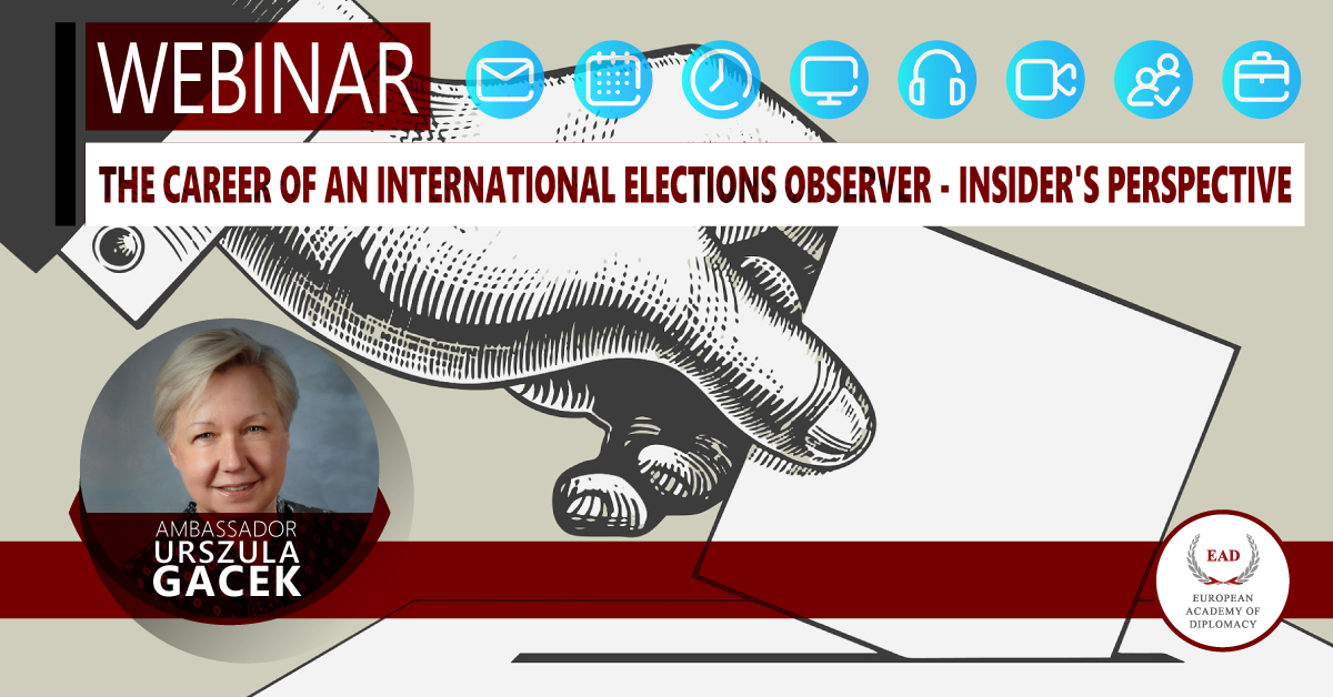 The career of an international elections observer – insider's perspective online webinar