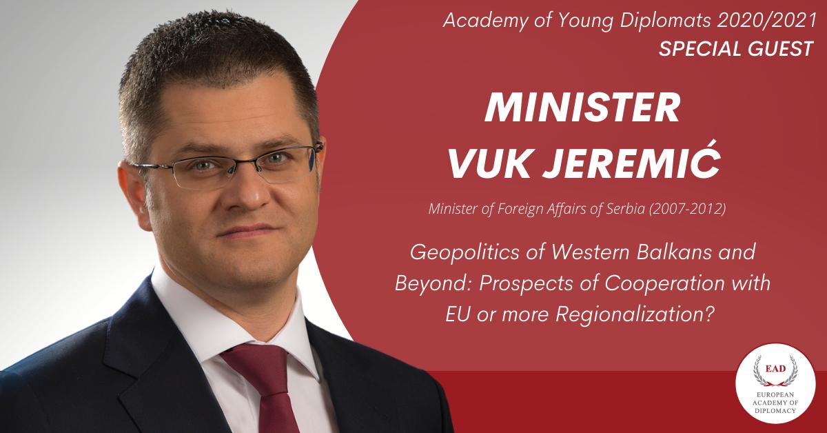 Minister Vuk Jeremić at the Academy of Young Diplomats