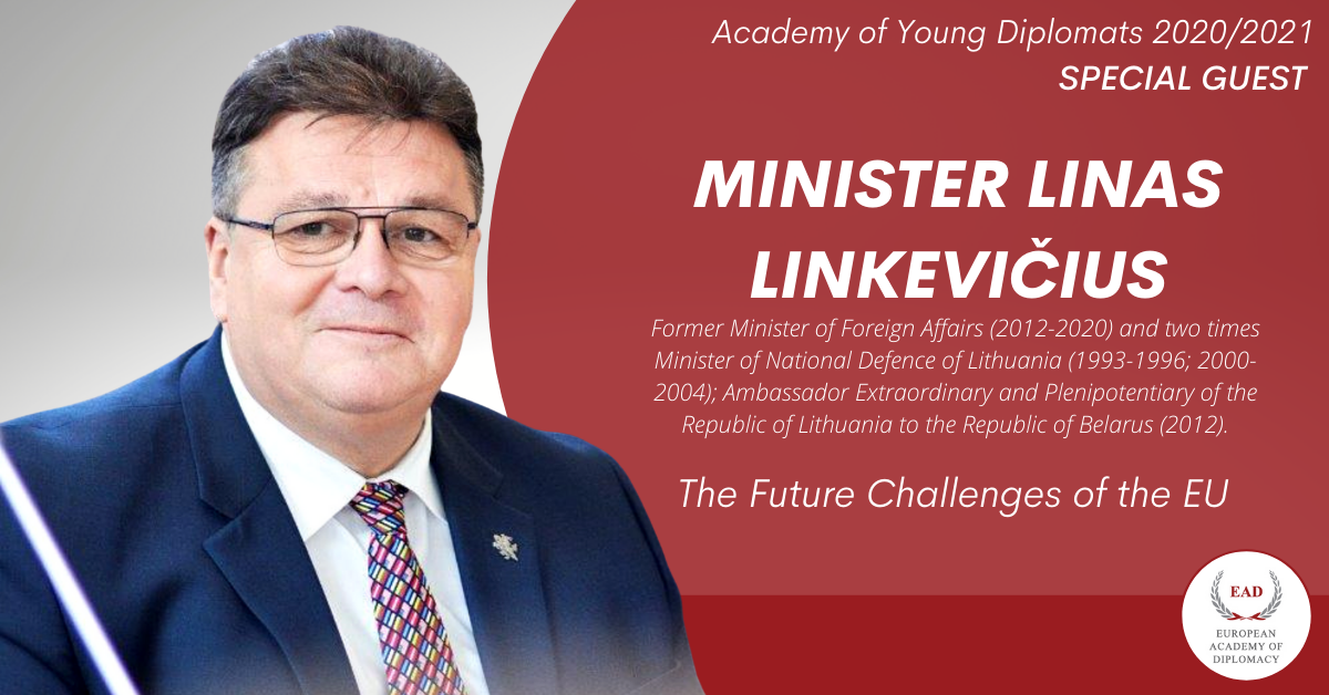 Special Guest – Linas Linkevičius at the Academy of Young Diplomats