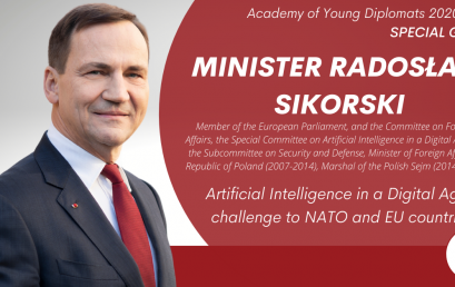 Special Guest – Radosław Sikorski at the Academy of Young Diplomats